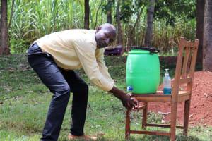 The Water Project: Mutao Community, Kenya Spring -  Handwashing At Home