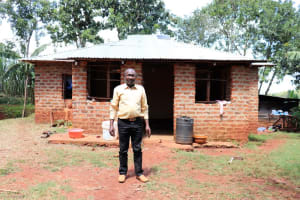 The Water Project: Mutao Community, Kenya Spring -  Jacob Outside His Home