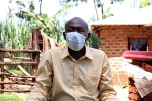The Water Project: Mutao Community, Kenya Spring -  Jacob Wearing His Mask