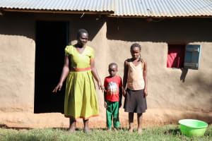 The Water Project: Mbande Community, Handa Spring -  Sarah With Her Kids