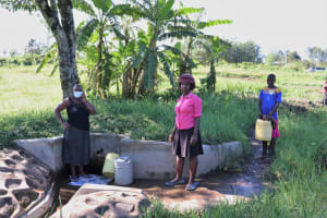 The Water Project:  Felistus With Others At The Spring