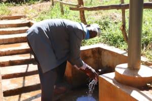 The Water Project: Namarambi Community, Iddi Spring -  Asman Enjoying The Spring Water
