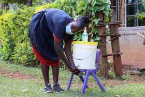 The Water Project: Shisere Community, Richard Okanga Spring -  Handwashing