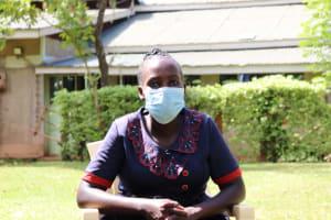 The Water Project: Shisere Community, Richard Okanga Spring -  Mask On