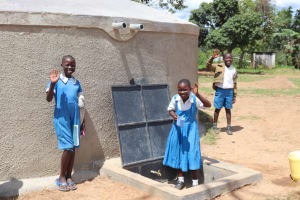 The Water Project: Jamulongoji Primary School -  Students Celebrating At The Tank