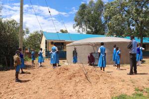 The Water Project: Jamulongoji Primary School -  Tank Maintenance Session
