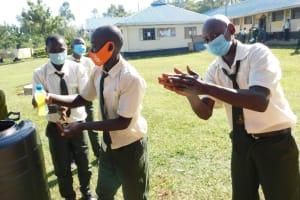 The Water Project: ACK St. Peter's Khabakaya Secondary School -  Handwashing Practice