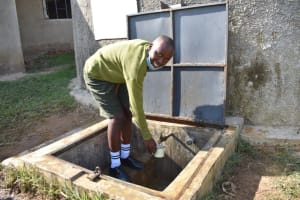 The Water Project: ACK St. Peter's Khabakaya Secondary School -  Happily Quenching Her Thirst