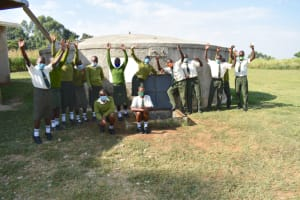 The Water Project: ACK St. Peter's Khabakaya Secondary School -  Students Celebrate The Tank