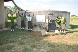 The Water Project: ACK St. Peter's Khabakaya Secondary School -  Celebrating The Rain Tank