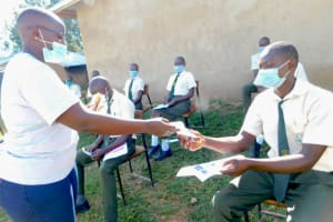 The Water Project: ACK St. Peter's Khabakaya Secondary School -  Most Active Students Awarded With Masks