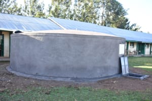 The Water Project: Eshimuli Primary School -  A Side View Of The Rain Tank