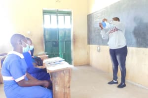 The Water Project: Eshimuli Primary School -  Mask Making Session