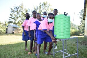 The Water Project: Eshimuli Primary School -  Washing Hands