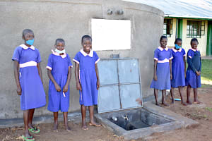 The Water Project: Eshimuli Primary School -  All Smiles At The Rain Tank