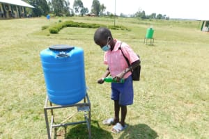 The Water Project: Eshimuli Primary School -  Applying Soap