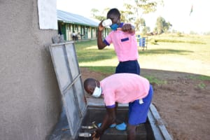 The Water Project: Eshimuli Primary School -  Easy Drinking And Handwashing