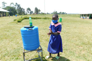 The Water Project: Eshimuli Primary School -  Handwashing