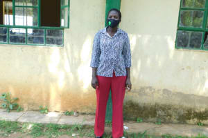 The Water Project: Eshimuli Primary School -  Teacher Eunice Atumba Masked Up