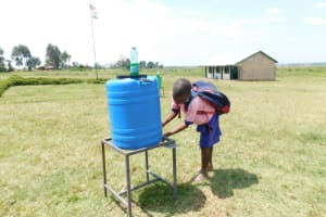 The Water Project: Eshimuli Primary School -  Using The New Handwashing Station
