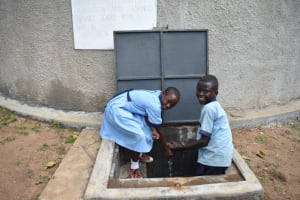 The Water Project: Isango Primary School -  Chidren At The Water Point