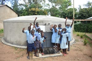 The Water Project: Isango Primary School -  Students Celebrating
