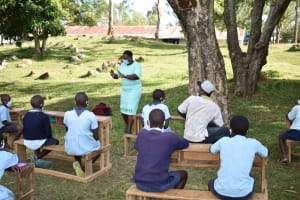 The Water Project: Isango Primary School -  Trainer Emmah In Action