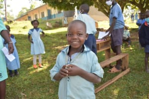 The Water Project: Isango Primary School -  A Student Smiles At Training