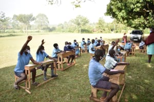 The Water Project: Isango Primary School -  Students Participate At Training