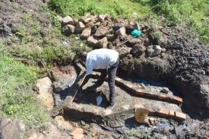 The Water Project: Bukalama Community, Wanzetse Spring -  Artisan Measures The Headwall