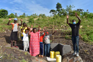 The Water Project: Bukalama Community, Wanzetse Spring -  Handing Over Ceremony