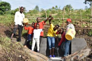 The Water Project: Bukalama Community, Wanzetse Spring -  People Celebrating Water