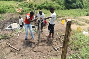 The Water Project: Bukalama Community, Wanzetse Spring -  Setting Up The Protective Fence