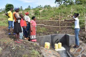 The Water Project: Bukalama Community, Wanzetse Spring -  Trainer Leads Site Management At The Spring