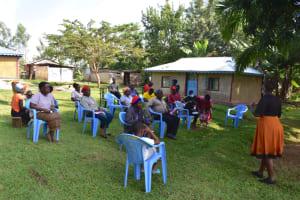 The Water Project: Bukalama Community, Wanzetse Spring -  Training In Progress