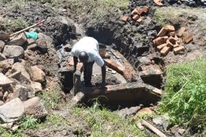 The Water Project: Bukalama Community, Wanzetse Spring -  Bricklaying