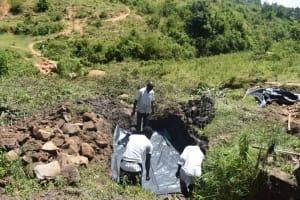 The Water Project: Bukalama Community, Wanzetse Spring -  Fitting The Tarp