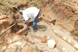 The Water Project: Mukhweso Community, Shemema Spring -  Brickwork