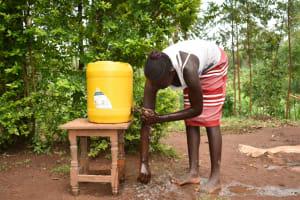 The Water Project: Mukhweso Community, Shemema Spring -  Handwashing Session