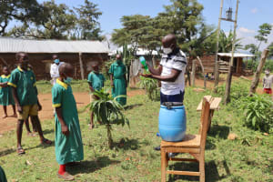 The Water Project: St. Peters Bwanga Primary School -  Ensure You Use Soap When Washing Your Hands