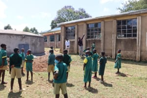 The Water Project: St. Peters Bwanga Primary School -  Explaining The Parts And Maintenance Of The Gutters