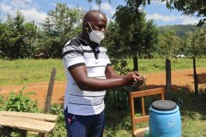 The Water Project: St. Peters Bwanga Primary School -  Jonathan Leads Handwashing Training