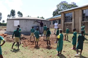 The Water Project: St. Peters Bwanga Primary School -  Operation And Maintenance Session