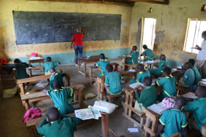 The Water Project: St. Peters Bwanga Primary School -  Training In Session
