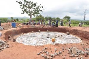 The Water Project: Kamuwongo Primary School -  Foundation Progress