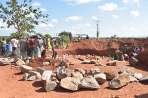 The Water Project: Kamuwongo Primary School -  Rocks For Tank Construction