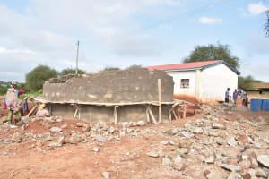 The Water Project: Kamuwongo Primary School -  Scaffolding On Tank Walls