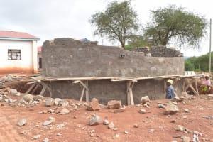 The Water Project: Kamuwongo Primary School -  Tank Wall Progress