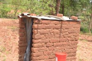 The Water Project: Kithalani Community A -  Latrine