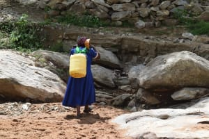 The Water Project: Lema Community A -  Carrying Water